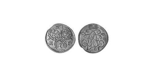 1 Kreuzer Principality of Ansbach (1398–1792) Silver John Frederick, Margrave of Brandenburg-Ansbach (1654 – 1686)