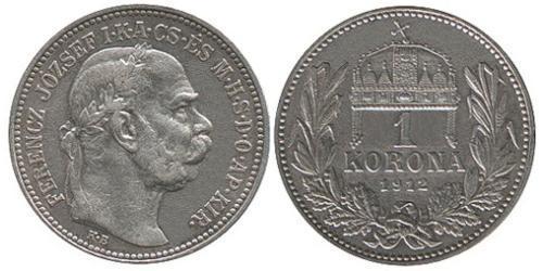 1 Krone Impero austro-ungarico (1867-1918) Argento Franz Joseph I (1830 - 1916)