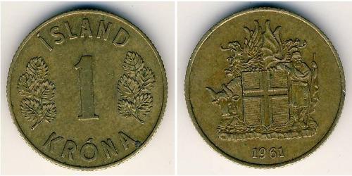 1 Krone Iceland Bronze
