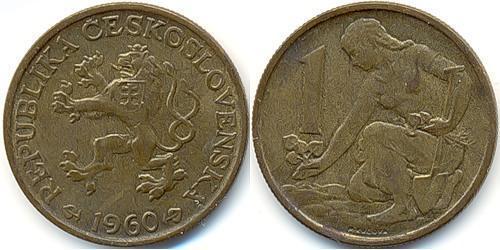 1 Krone Czechoslovakia (1918-1992) Bronze/Aluminium
