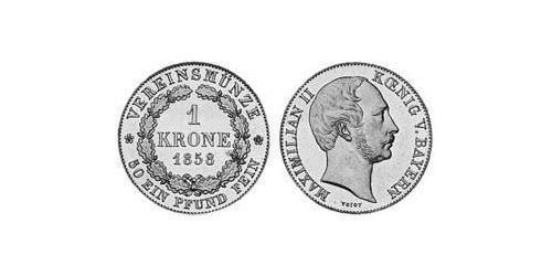1 Krone Kingdom of Bavaria (1806 - 1918) Gold Maximilian II of Bavaria (1811 - 1864)