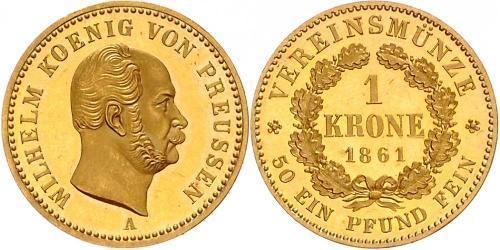 1 Krone Kingdom of Prussia (1701-1918) Gold Wilhelm I, German Emperor (1797-1888)
