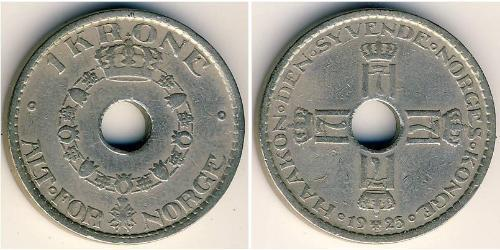 1 Krone Norwegen Kupfer/Nickel
