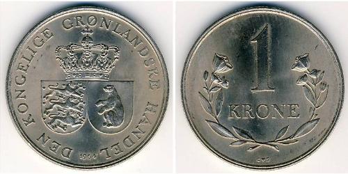 1 Krone Groenlandia Níquel/Cobre