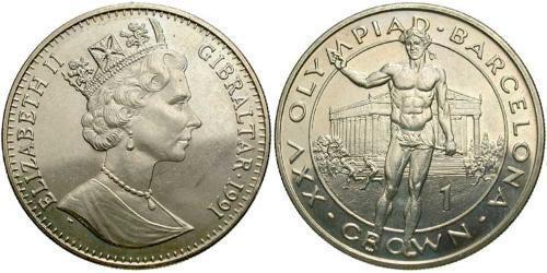 1 Krone Gibraltar  Elizabeth II (1926-)