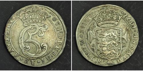 1 Krone / 4 Mark Danemark Argent