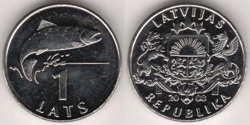 1 Lats Lettonie (1991 - )