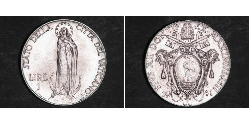 1 Lira Vaticano (1926-) Acciaio inossidabile Papa Pio XII (1876 - 1958)