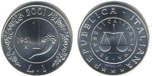 1 Lira Italia Argento