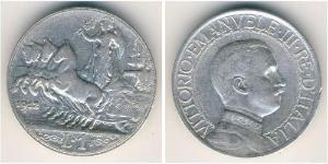 1 Lira Kingdom of Italy (1861-1946) Argento