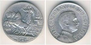 1 Lira Kingdom of Italy (1861-1946) Argento