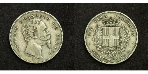 1 Lira Italy Silver Umberto I (1844-1900)