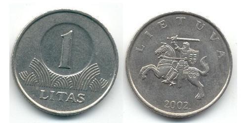 1 Litas Lituania (1991 - ) Níquel/Cobre