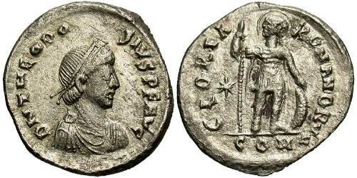1 Miliarensis Byzantine Empire (330-1453) Silver Theodosius II (401-450)