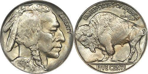 1 Nickel / 5 Cent Estados Unidos de América (1776 - ) Níquel/Cobre