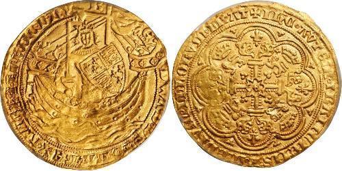 1 Noble Королевство Англия (927-1649,1660-1707) Золото Эдуард III (1312-1377)