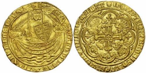 1 Noble Королівство Англія (927-1649,1660-1707) Золото Едвард III (1312-1377)