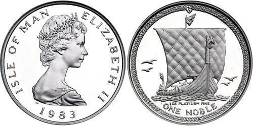 1 Noble Isle of Man Platinum Elizabeth II (1926-)