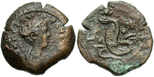 1 Obol Roman Empire (27BC-395) Bronze Faustina II (130-175)