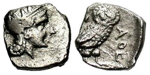 1 Obol Ancient Greece (1100BC-330) Silver
