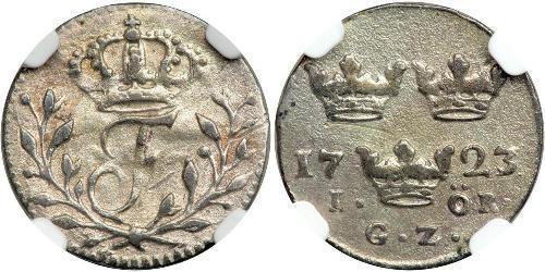 1 Ore Svezia Argento Federico I di Svezia (1676 -1751)