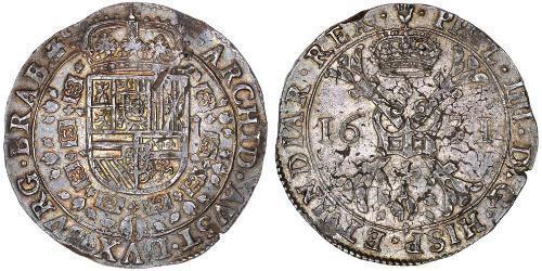 1 Patagon Испанские Нидерланды (1581 - 1714) Серебро Philip IV of Spain (1605 -1665)