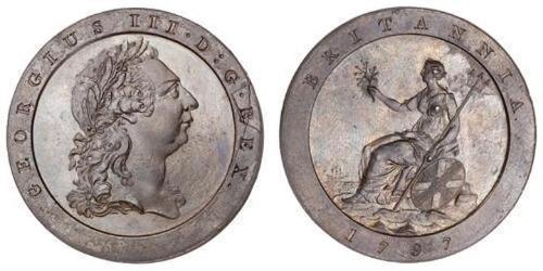 1 Penny  銅 喬治三世 (1738-1820)