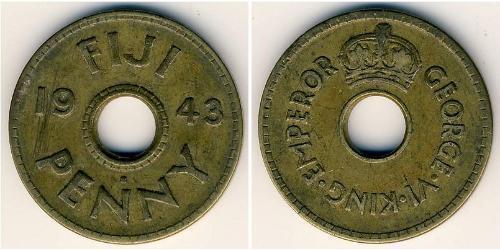 1 Penny Fiji 黃銅
