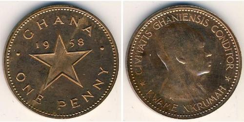 1 Penny Ghana Bronce