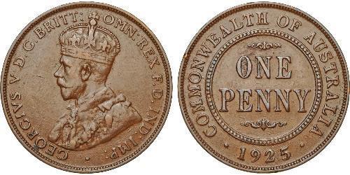 1 Penny Ôstralie (1788 - 1939) Bronze George V (1865-1936)