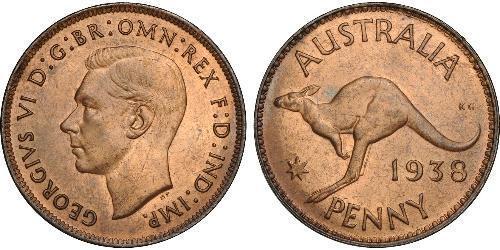 1 Penny Australie (1939 - ) Bronze George VI (1895-1952)