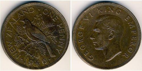 1 Penny Neuseeland Bronze