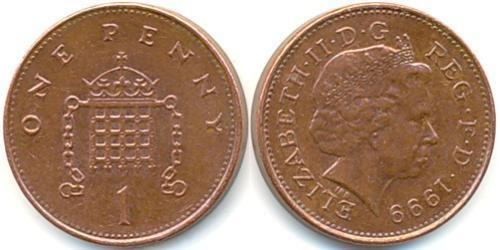 1 Penny United Kingdom (1922-) Bronze Elizabeth II (1926-)
