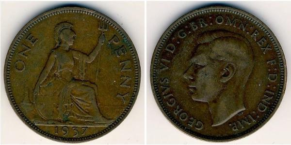 1 Penny United Kingdom (1922-) Bronze George VI (1895-1952)