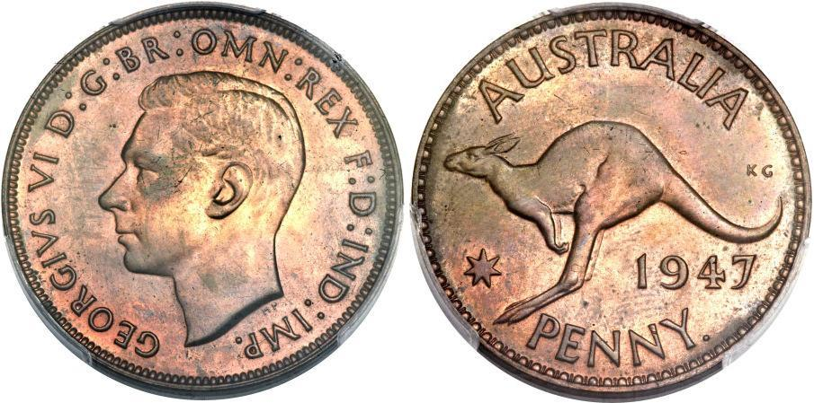 A rare public offering george vi proof penny 1947 for One penny homes