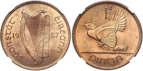 1 Penny Irlanda (1922 - ) Bronzo