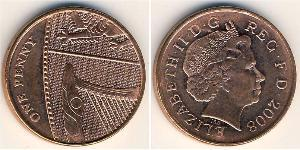 1 Penny United Kingdom (1922-) Steel/Copper Elizabeth II (1926-)