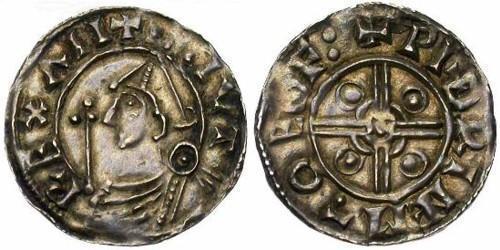 1 Penny Königreich England (927-1649,1660-1707) Silber Cnut (985 -1035)
