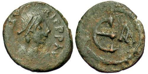 1 Pentanummium Byzantine Empire (330-1453) Bronze Maurice Tiberius (539-602)