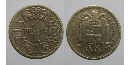 1 Peseta Francoist Spain (1936 - 1975) Bronze/Aluminium