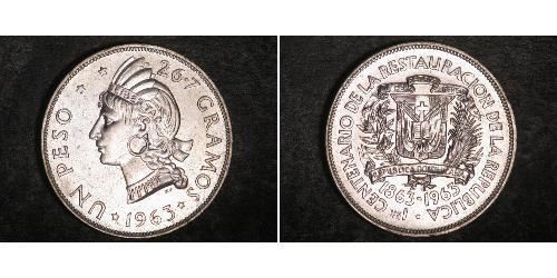 1 Peso 多明尼加 銀