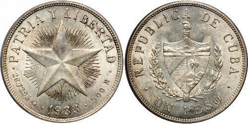 1 Peso Cuba Argent