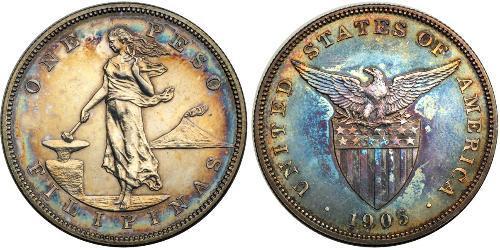 1 Peso Philippines Argent