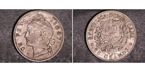 1 Peso République dominicaine Argent