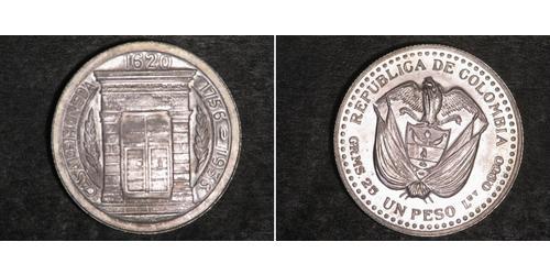1 Peso Colombia Argento
