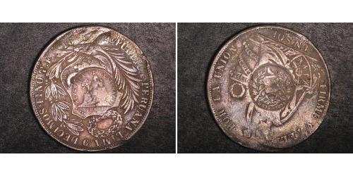 1 Peso Guatemala Argento