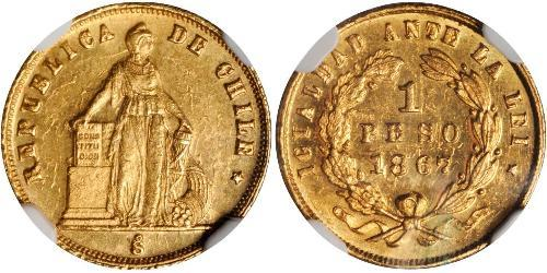 1 Peso Chile Gold