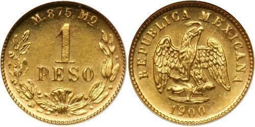 1 Peso México (1867 - ) Oro
