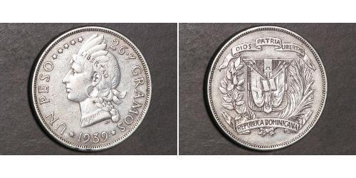 1 Peso República Dominicana Plata