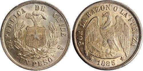 1 Peso Chile Silber